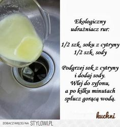 WSZYSTKOoKUCHNI.pl na Stylowi.pl Garden Projects, Home Projects, Projects To Try, Bathroom Cleaning Hacks, Room Tour, Green Cleaning, Kidsroom, Glass Of Milk, Soda