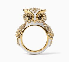 My Owl Barn: Kate Spade Snowy Owl Collection Bird Jewelry, Jewelry Box, Jewelry Rings, Jewelry Accessories, Jewelry Design, Unique Jewelry, Jewelry Ideas, Kate Spade Rings, Ring Bracelet