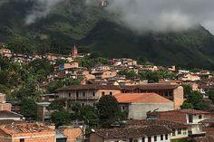 Támesis es una tierra cafetera que amanece cubierta de niebla. / David Zuluaga