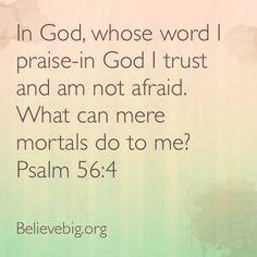 Psalm 56:4 #BelieveBig today!