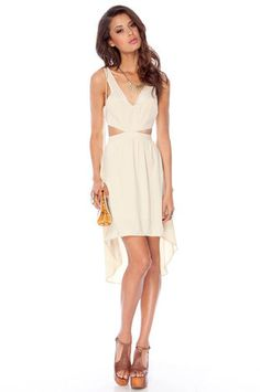 Kenna Cut Out Dress in Sand $43