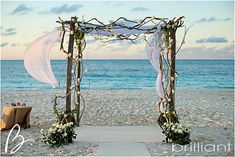Driftwood Wedding arch - Wedding in Turks and Cacios decoration ideas | Beach Wedding Decorations Grace Bay Cliub | Brilliant Blog