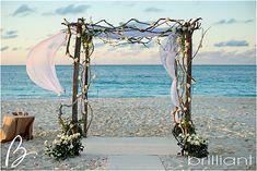 Driftwood Wedding arch - Wedding in Turks and Cacios decoration ideas | Beach Wedding Decorations Grace Bay Cliub | Brilliant Blog