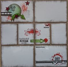 Here's a base for a PL layout... The stamps that I've used are from Vilda Stamps... Ome of them are my own design :-).