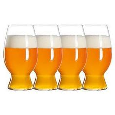 Spiegelau Beer Classics Ounce American Wheat Beer-Witbier Glass, Set of 4 Beer Glass Set, Wine Glass, Most Popular Beers, Craft Bier, Wheat Beer, Kitchen Helper, Wine And Beer, Beer Lovers, Cool Kitchens