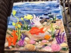 Needle Felted Wool Painting, Handmade. Original, OOAK, Wool Art on Etsy, $96.00