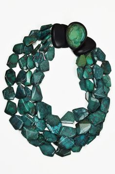 Monies: faceted turquoise necklace