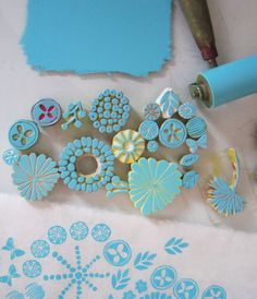 blue stamps