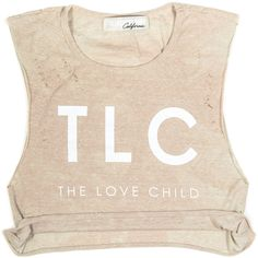 TLC Crop Muscle Tee ($61) ❤ liked on Polyvore featuring tops, crop, shirts, graphic design shirts, shirt top, graphic crop top, pink crop top and muscle t shirts