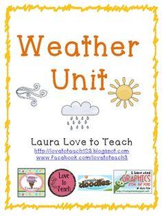 Weather Unit for Grades 2-3 $