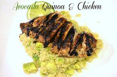 Virgin Diet Friendly - Avocado Quinoa & Chicken (marinated the chicken for 2 hours in the balsamic vinegar recipe with added brown sugar and basil) so so so good and filling and healthy! Cubed the chicken and avocado before adding everything together. Perfect; definitely an easy recipe to make atleast once a week