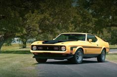 The end of the pony-car era arrived with the 1971 Ford Mustang Mach 1 429, where Ford had improved the handling and reliability of the 429 V-8 and up to 375 hp in Super CobraJet form. Smog controls and other changes would quickly make the Mustang too big for its motors.