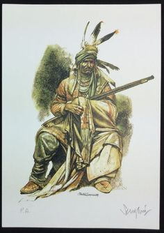 """Serpieri, Paolo Eleutieri - lithographs """"Capo Indiano"""" - W. Indiana, Westerns, Inuit People, Serpieri, Native American Artists, Indigenous Art, Illustrations, Character Design References, Native Art"""