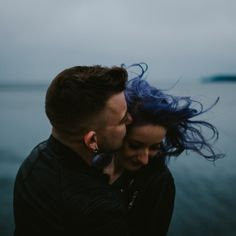 Rain, wind, nothing was going to hold back these two. Stormy Pacific NorthWest engagement session