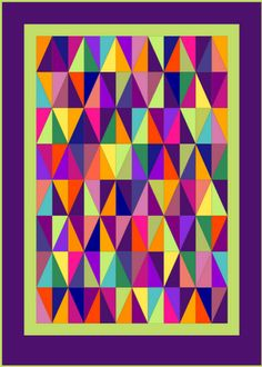 Lilys Quilts: Harlequin Quilt Finished . . . glorious color!