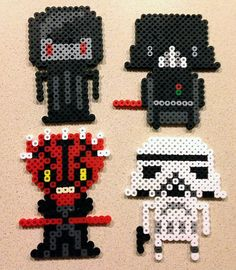 Star Wars Characters perler beads by LunasRealm...JONATHAN WOULD LOOOVVVEEEE THESE...STAR WARS IS HIS NEW FAVORITE THING
