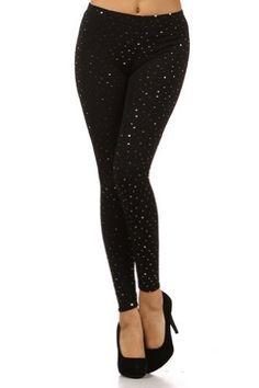 Kiwi Co. Sparkling Gold Dots Printed Shiny Leggings Gold One Size Kiwi Co.. $16.00