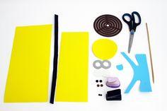 Porta-lápis dos Minions - Portal de Artesanato - O melhor site de artesanato com passo a passo gratuito