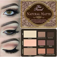 Too Faced Natural Matte Eye Palette. Details Craft a natural eye look with this matte eye palette. Make Up Palette, Eye Palette, Too Faced Palette, Too Faced Natural Matte, Kiss Makeup, Love Makeup, Beauty Makeup, Beauty Ad, Drugstore Beauty