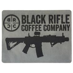 1f5c2e81e3028 BRCC Classic Logo Sticker - Grey. Black Rifle Coffee CompanyReal ...
