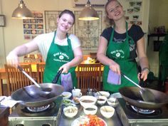 Fun cooking class with friends