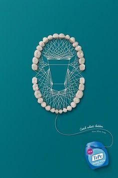 Turkey-based company, TePe, advertising dental floss. #dentistry #floss