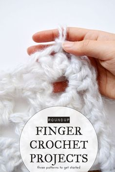Finger Crochet Patterns 3 Finger Crochet Projects Finger Crochet Patterns 110 Free Crochet Patterns For Summer And Spring Diy Crafts. Finger Crochet Patterns How To Finger Crochet A Blanket All Craft . Crochet Crafts, Crochet Yarn, Yarn Crafts, Hand Crochet, Crochet Stitches, Crochet Flowers, Diy Crafts, Free Crochet, Finger Knitting Projects