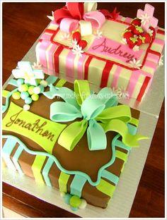 Twin 1st communion cakes