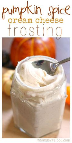 Pumpkin Spice Cream Cheese Frosting With Butter, Cream Cheese, Pure Vanilla Extract, Powdered Sugar, Pumpkin Pie Spice