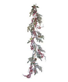 5' Snow Pine & Berry Garland
