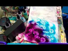 Very cool and easy technique.    Alcohol Dripping & Spray Inks
