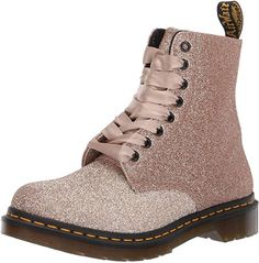 Looking for Dr. Check out our picks for the Dr. Martens Womens 1460 Pascal Glitter from the popular stores - all in one. Doc Martens, Glitter Boots, Gold Glitter, Glitter Fashion, Spring Boots, Workout Shoes, Motorcycle Boots, Lace Up Heels, Mid Calf Boots