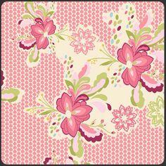 1 Yard LILLY BELLE  Flowerpop Sweet Fabric by by BellatiqueFabrics, $9.00