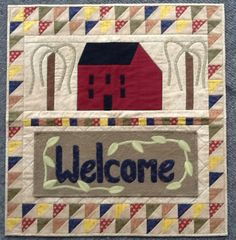 Country Home Sweet Home Complete kit - Auntie Ju's Quilt Shoppe - $109.99 - comes with 5 detachable banners, Welcome, Spring, Summer, Fall and Winter