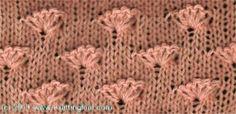 Chinese Fans - Knittingfool Stitch Detail