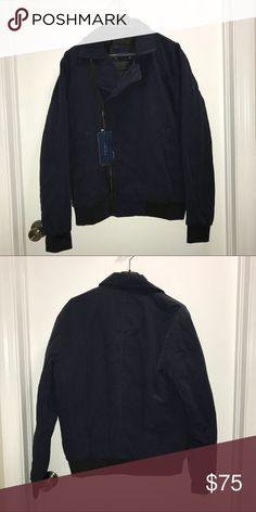 Men's Windbreaker jacket Zara Man  Blue navy windbreaker jacket   Asymmetrical zippered closure   Size Large  NWT   Check out my other items !   I ship same or next day📬   Thanks for looking ! Zara Jackets & Coats Windbreakers