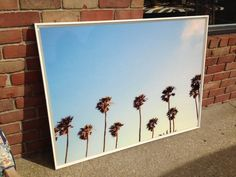 """Oversized Framed Acrylic Photograph, """"California Dreaming"""" 