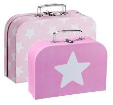 Kids Concept Koffer Rosa 2er Set