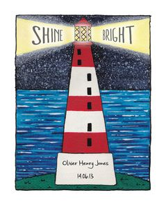 Personalised Lighthouse Illustration  Shine by CCainsIllustration