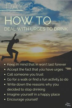 No Alcohol Challenge – Vegan Program Here are some tips to deal with urges. Hope it helps! Quit Drinking Alcohol, Quitting Alcohol, Alcohol Detox, Tips To Stop Drinking, Sober Quotes, Sobriety Quotes, Sobriety Gifts, Recovery Quotes, Sobriety Tattoos
