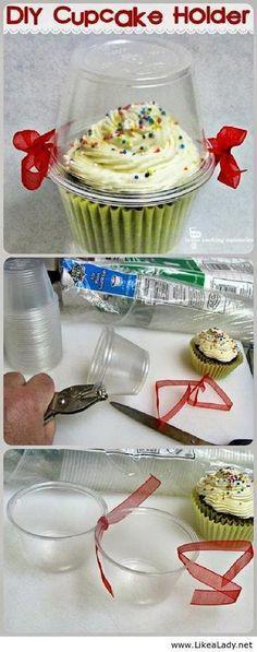 DIY individual cupcake holders.
