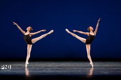 PNB | PNB Blog | Pacific Northwest Ballet Agon, Elizabeth Murphy and Kylie Ktchens 2013 NYC