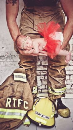 Firefighter baby girl