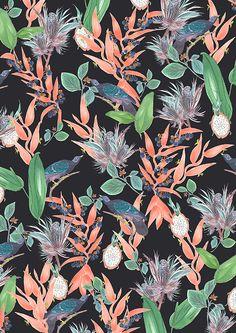 Pattern Fashion, Fashion Prints, Textile Design, Pattern Design, Textiles, Plants, Painting, Art, Art Background