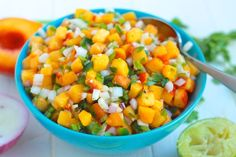 12 Summer Salsas and Salads | Destination Delish – a roundup of the most refreshing and fruity salsas and scrumptious salads that are sure to be a hit at any summer gathering