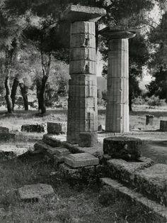 Herbert List  GREECE. Peloponnese. Olympia. Temple of Hera. 1937.