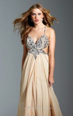 Halter Chiffon Dress by Terani Couture Prom P1527