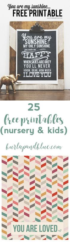 25 free printables for nursery, teens and kids!