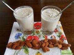 leche coco almendras