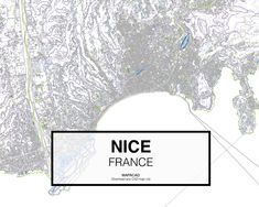 Niza - France. Download CAD Map city in dwg ready to use in Autocad. www.mapacad.com
